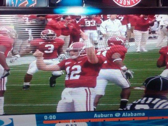 McElroy flips off Auburn