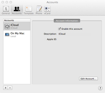 Address Book iCloud Sync