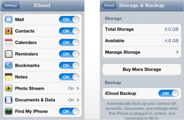 Step 5. Customize your iCloud settings.