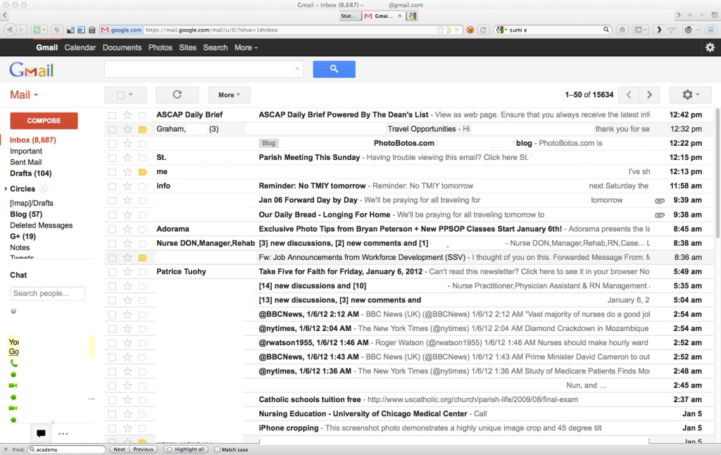 Gmail New and not-so improved look
