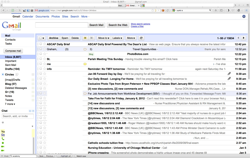 Gmail's Time-honored appearance