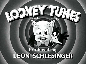 Black and White Looney Tunes opening title