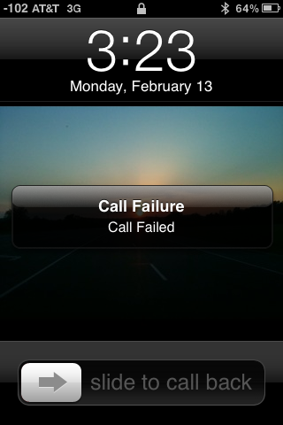 Call Failure; Call Failed