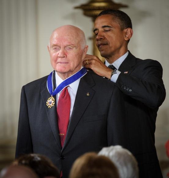 John Glenn Receives Presidential Medal of Freedom