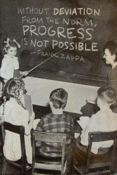 Chalkboard Zappa quote