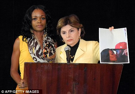Gloria Allred w Miami Cannibal's girlfriend