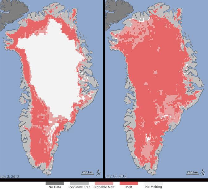Greenland's ice sheet surface melt_NASA