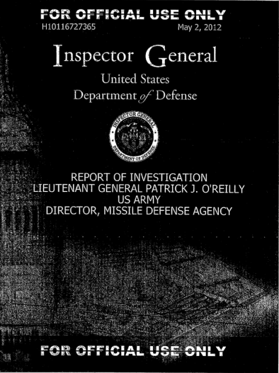 IG Investigation O'Reilly-report cover