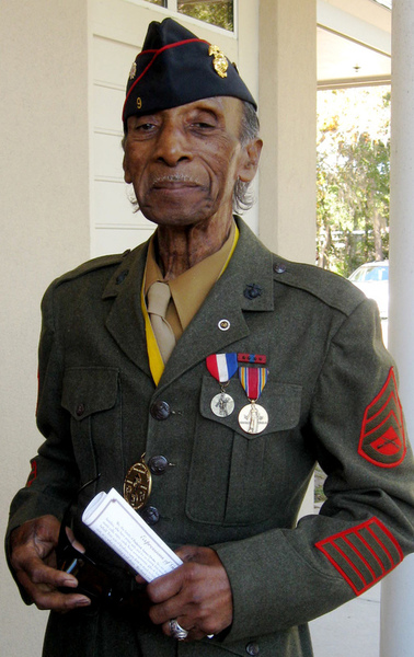 Retired Gunnery Sgt Lasalle Vaughn