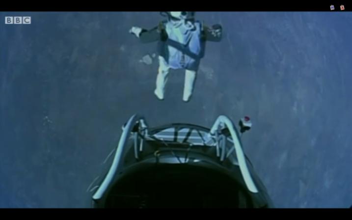 Felix Baumgartner jumps