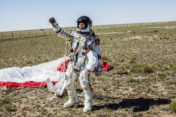 Felix Baumgartner landed