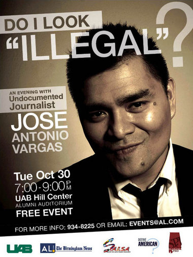 Jose Antonio Vargas to be in Bham
