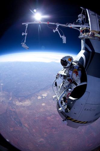 Record Setting height parachute jump