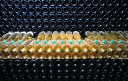Sparkling wine undergoes an early fermentation process at the Ridgeview Wine Estate in East Sussex, England. Warmer summers are producing wines competitive with some from France. - GRAHAM BARCLAY/BLOOMBERG NEWS