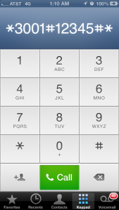How to get numerical signal strength indicator on iPhone