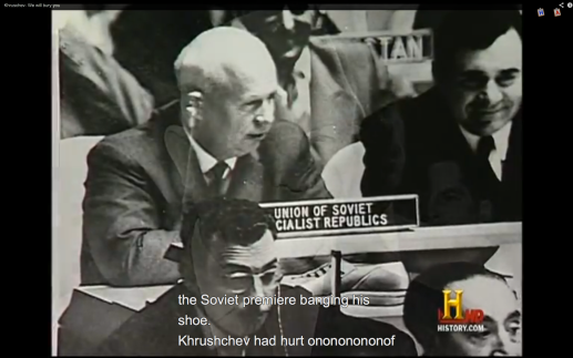Soviet Union Premier Nikita Khrushchev at United Nations https://en.wikipedia.org/wiki/Shoe-banging_incident