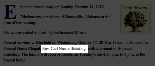 Reverend Carl Ralph Nuss, Cullman, Alabama, has plead GUILTY to violating Federal Law - Servicemembers Civil Relief Act.