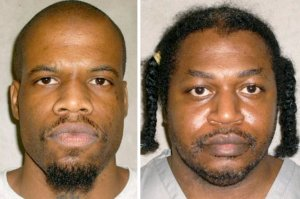 Clayton D. Lockett, left, died of a heart attack Tuesday after his execution was halted in Oklahoma. A second execution, that of Charles F. Warner, right, was then stayed. Credit Oklahoma Department of Correction