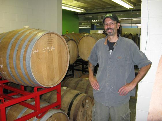 Co-founder of Jolly Pumpkin Artisan Ales, Ron Jeffries, is pictured at the original brewing facility near downtown Dexter, Michigan.