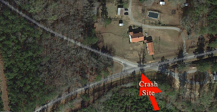 Specific location crash site