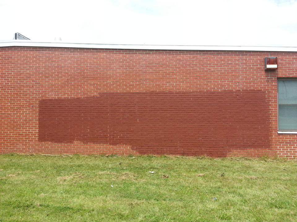 Anti-immigrant graffiti removed from Westminster Army Reserve Center,  July 15, 2014  - The act of vandalism is being investigated as a hate crime.