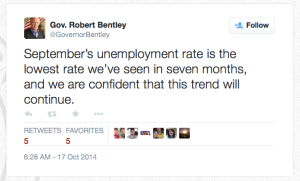 Bentley UR Tweet Claim 10-17-14