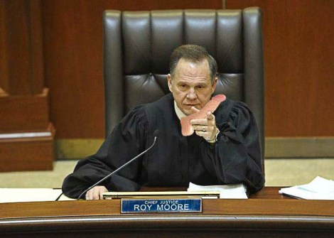 Is Alabama Supreme Court Chief Jester Roy Moore a Self-Loathing, Closeted Homosexual?