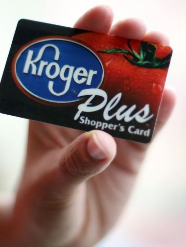A Kroger Plus Shopper's Card. / Photo by Amanda Rossmann, The Cincinnati Enquirer