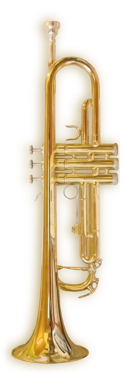 A study performed in India suggests wind instrument musicians are at lower risk for Sleep Apnea. Seen here, a B-flat trumpet.