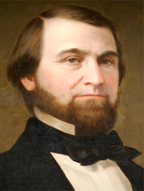 William Lowndes Yancey (1814-1863), originally a Unionist, later became an outspoken secessionist. He edited newspapers in Cahaba and Wetumpka in the late 1830s and was elected to the U.S. Congress in 1844. He represented Alabama in the Confederate Senate from 1861 until his death in 1863. Courtesy of Alabama Department of Archives and History. Painted by Edward Billings in 1857.