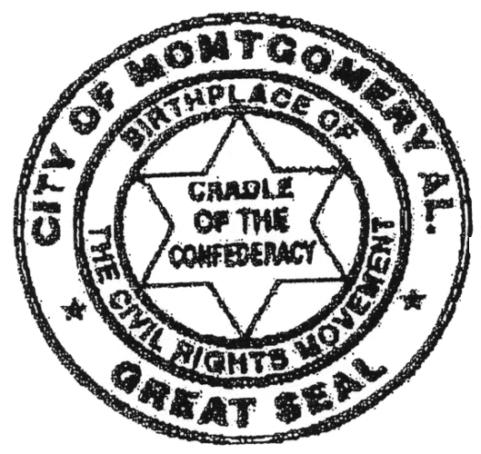 City of Montgomery, Alabama Municipal Seal