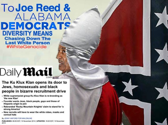 Alabama State Democratic Executive Committee member Joe Reed is a bigoted racist.