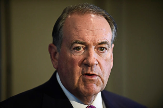 Former Mississippi Governor Republican presidential candidate former Arkansas Governor Mike Huckabee speaks at the American Legislative Exchange Council 42nd annual meeting Thursday, July 23, 2015 in San Diego.  (AP Photo/Denis Poroy)