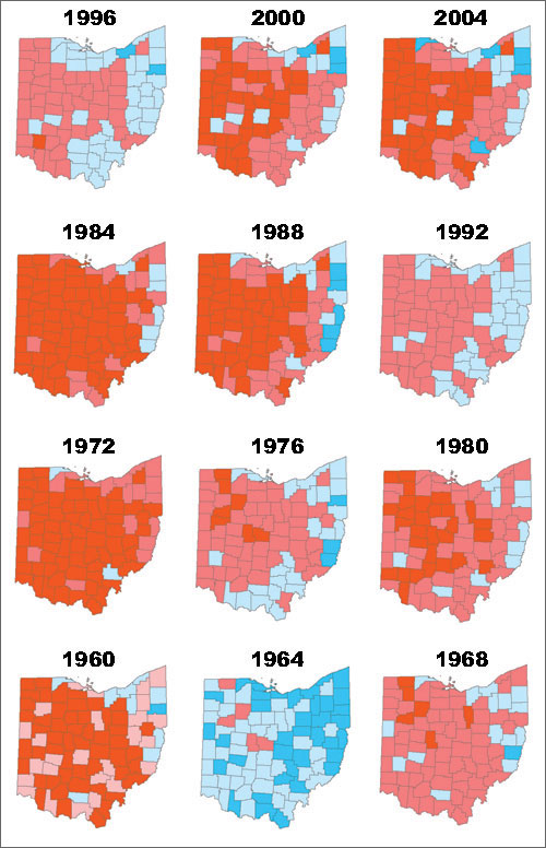 Ohio voters correctly picked the winning presidential candidate in the last 11 elections. However, in 1960, Ohioans chose Richard Nixon, but John F. Kennedy was elected president.
