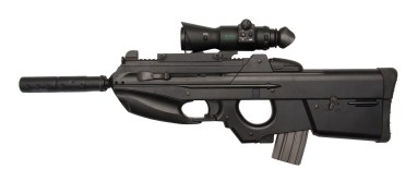 """The FN F2000 is a gas operated, 5.56×45mm NATO """"bullpup"""" 30-round capacity, assault rifle with rotating bolt designed by (Fabrique Nationale) FN Herstal in Belgium, and has been in production since 2001."""