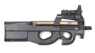 The Fabrique Nationale P90 was developed in the late 1980s and has proven to be an effective and fearsome personal defense weapon for various law enforcement and military agencies around the world. The P90 is famed for its unique ergonomics, caliber and ammo-feeding method and has the flexibility to be adapted for various roles. Manufacturer: Fabrique Nationale Model: P90 Calibre: 9mm Firearm Length: 7 inches 19 Barrel Length: 10.4 inches Origin: Belgium Materials: Metal/Wood or Metal/Plastic Initial date of manufacture: 1986 Popular from 1990 to present