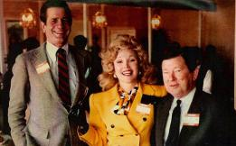 "L-R, US Rep. Charlie Wilson, TX-D, Houston socialite/political activist Joanne Herring, US Sen. John Tower, TX-R, all collaborated toward driving invading Russian forces from Afghanistan. The story is told in the book, ""Charlie Wilson's War,"" which later became a movie."