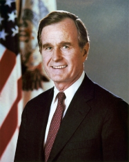 George H.W. Bush (b.June 12, 1924), United States President 1989-1993, was previously Vice President under Ronald Reagan, and CIA Director January 30, 1976 – January 20, 1977