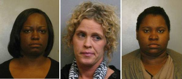"""Former Jefferson County, Alabama revenue clerks Lashonda Smaw, Alisha Cole, and Gazette Berry (pictured from left to right). They engaged in the same unethical conduct that is involved in the Hillary Clinton """"cash for prioritized access"""" scandal. Each woman was investigated, criminally charged with felony ethics violations, and convicted in court. Their total take in gratuities was $120. The total gratuities involved in the Clinton scandal is $156 million, and nobody is under a criminal investigation."""