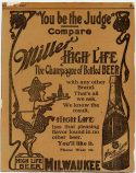 Miller High Life beer 1907 ad