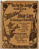 Miller High Life beer 1907 ad