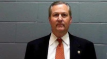 Booking Shot, Mike Hubbard, Republican Speaker of the Alabama House of Representatives, was indited on 23 Felony Ethics violations, and convicted of 12 by a Lee County jury June 10, 2016, each a Class B felony, punishable by two to 20 years in prison.